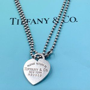 Authentic Return to Tiffany & Co Silver Necklace